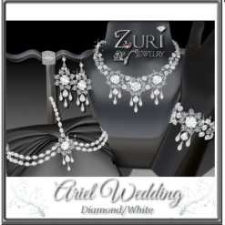 Zuri Rayna~Ariel Wedding-White DiamondPIC