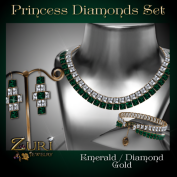 Princess Diamonds - Emerald-Diamond-Gold