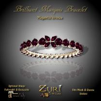 Brilliant Marquis Bracelet - Magenta_Bronze