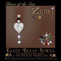 Zuri Rayna~Heart of the Sea- Elite Belly JewelPIC