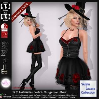SLC Halloween Witch Dark RosesPIC