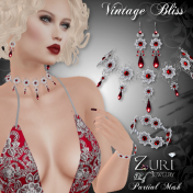 Vintage Bliss Collection - Ruby Pearl_Blk Sterling